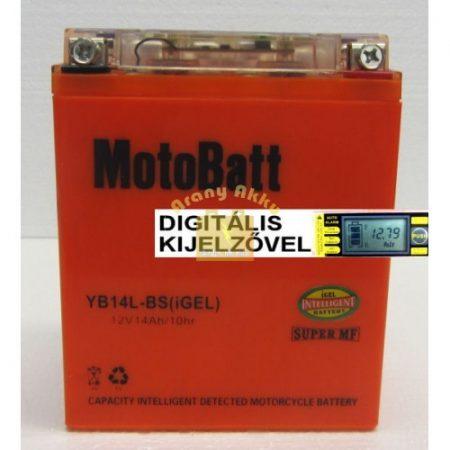 Motobatt Bike bull DS I-GEL 12V 14Ah YB14L-BS motor akkumulátor