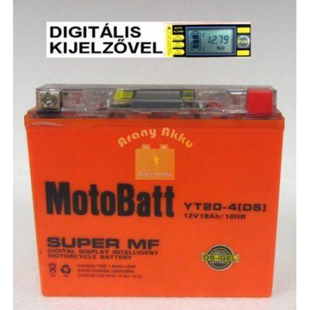 Motobatt Bike bull DS I-GEL 12V 18Ah YT20L-4 motor akkumulátor BAL+