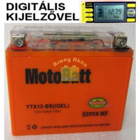 Motobatt Bike bull DS I-GEL 12V 10Ah YTX12-BS