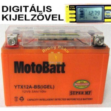 Motobatt Bike bull DS I-GEL 12V 9,5Ah YTX12A-BS motor akkumulátor