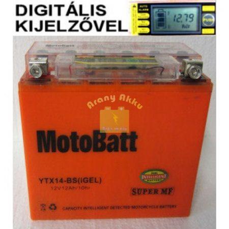 Motobatt Bike bull DS I-GEL 12V 12Ah YTX14-BS motor akkumulátor