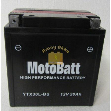 Motobatt Bike bull 12V 28Ah YTX30L-BS motor akkumulátor