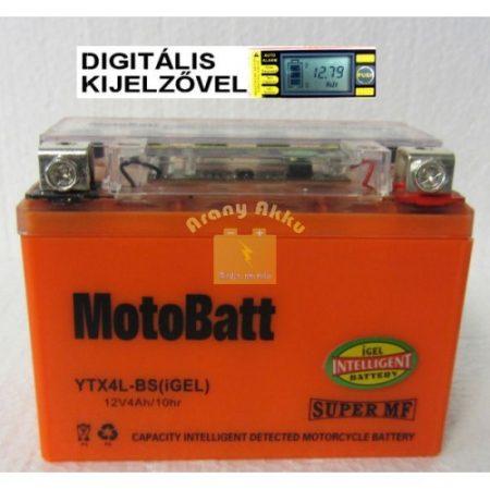 Motobatt Bike bull DS I-GEL 12V 4Ah YTX4L-BS motor akkumulátor