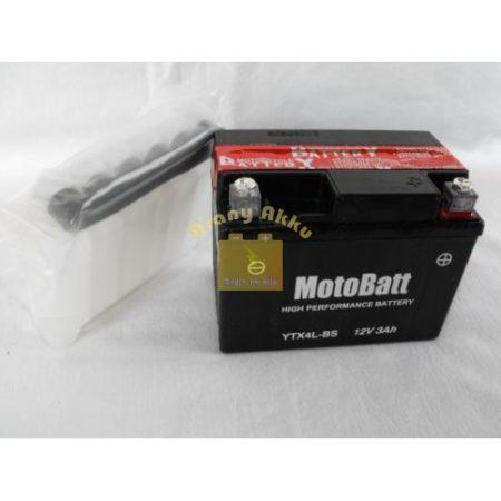 Motobatt Bike bull 12V 3Ah YTX4L-BS motor akkumulátor