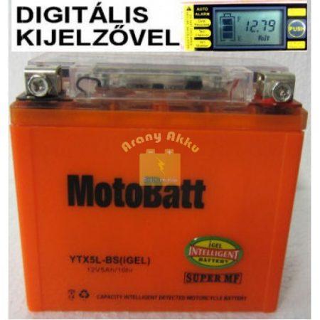 Motobatt Bike bull DS I-GEL 12V 5Ah YTX5L-BS motor akkumulátor