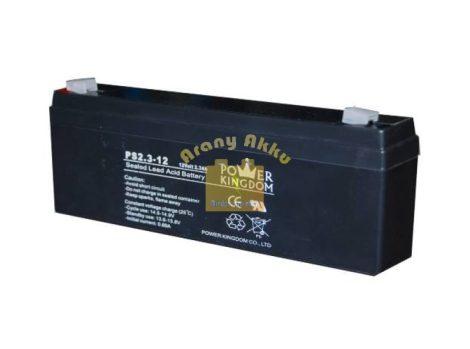 Power Kingdom 12V 2,3Ah VRLA riasztó/szünetmentes akkumulátor