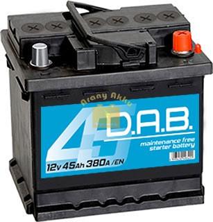 DAB Autó akkumulátor 12V 45Ah 380A