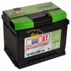 Monbat Premium Autó akkumulátor 12V 63Ah 550A