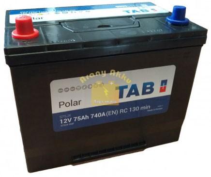 TAB Polar 75 Ah 740A Asia B+ akkumulátor